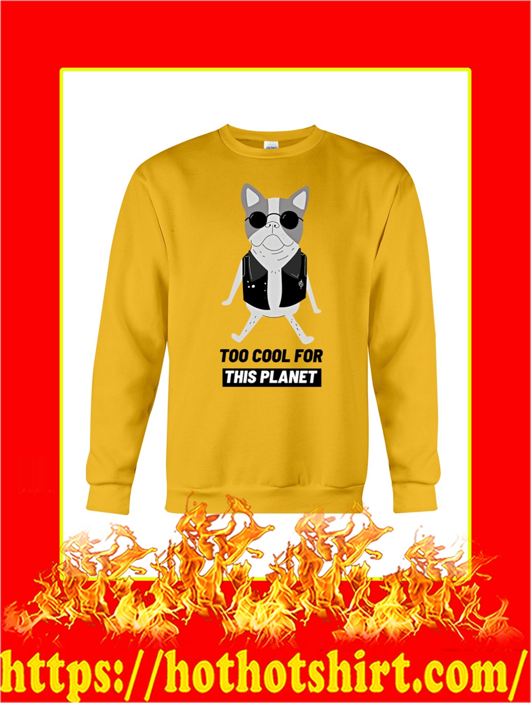 Dog Too Cool For This Planet sweatshirt