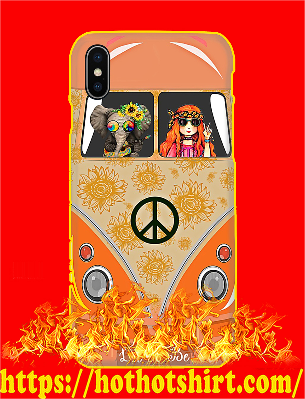 Elephant and Hippie Girl Let It Be Phone Case- iphone X