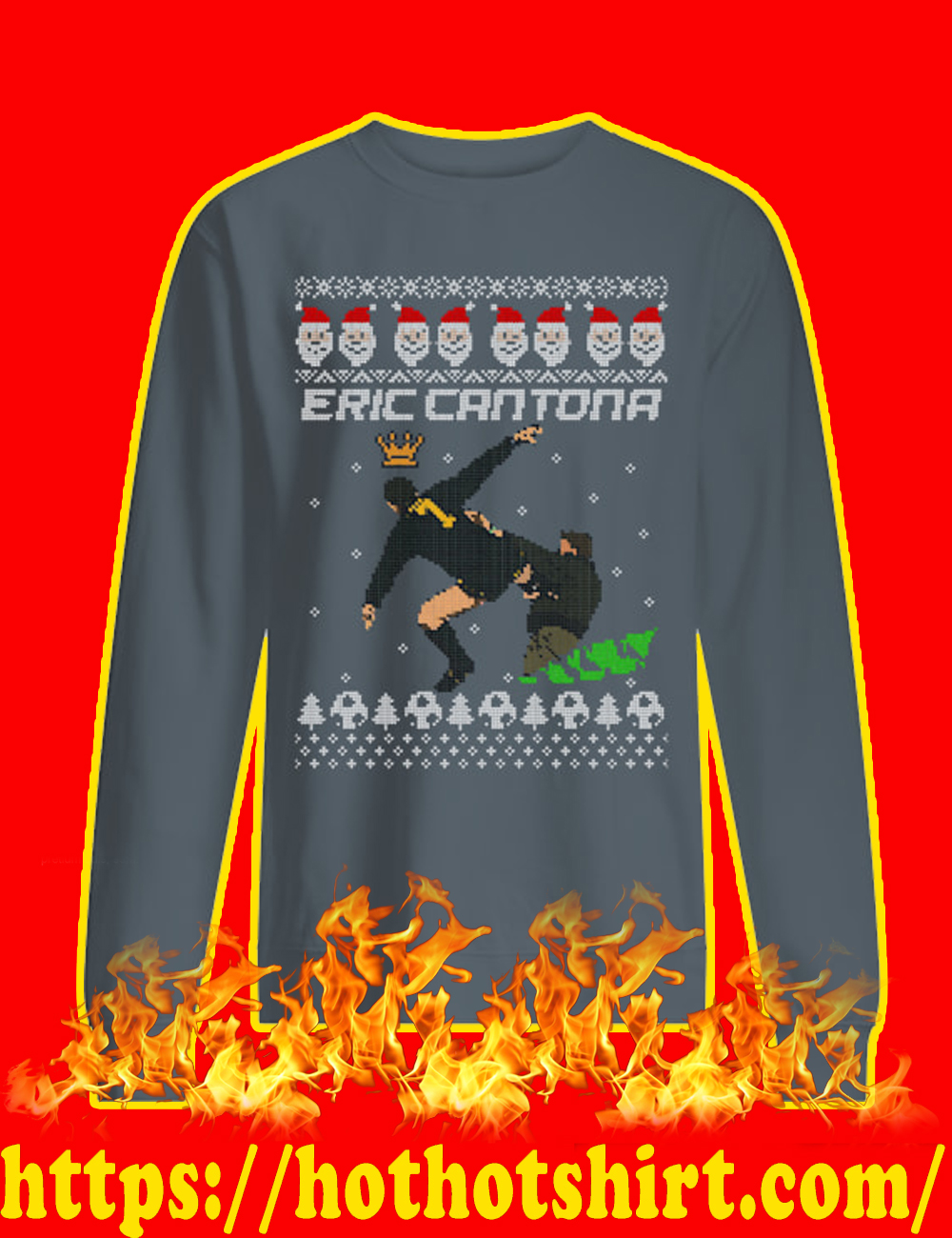 Eric Cantona Kung Fu Kick Sweater-grey
