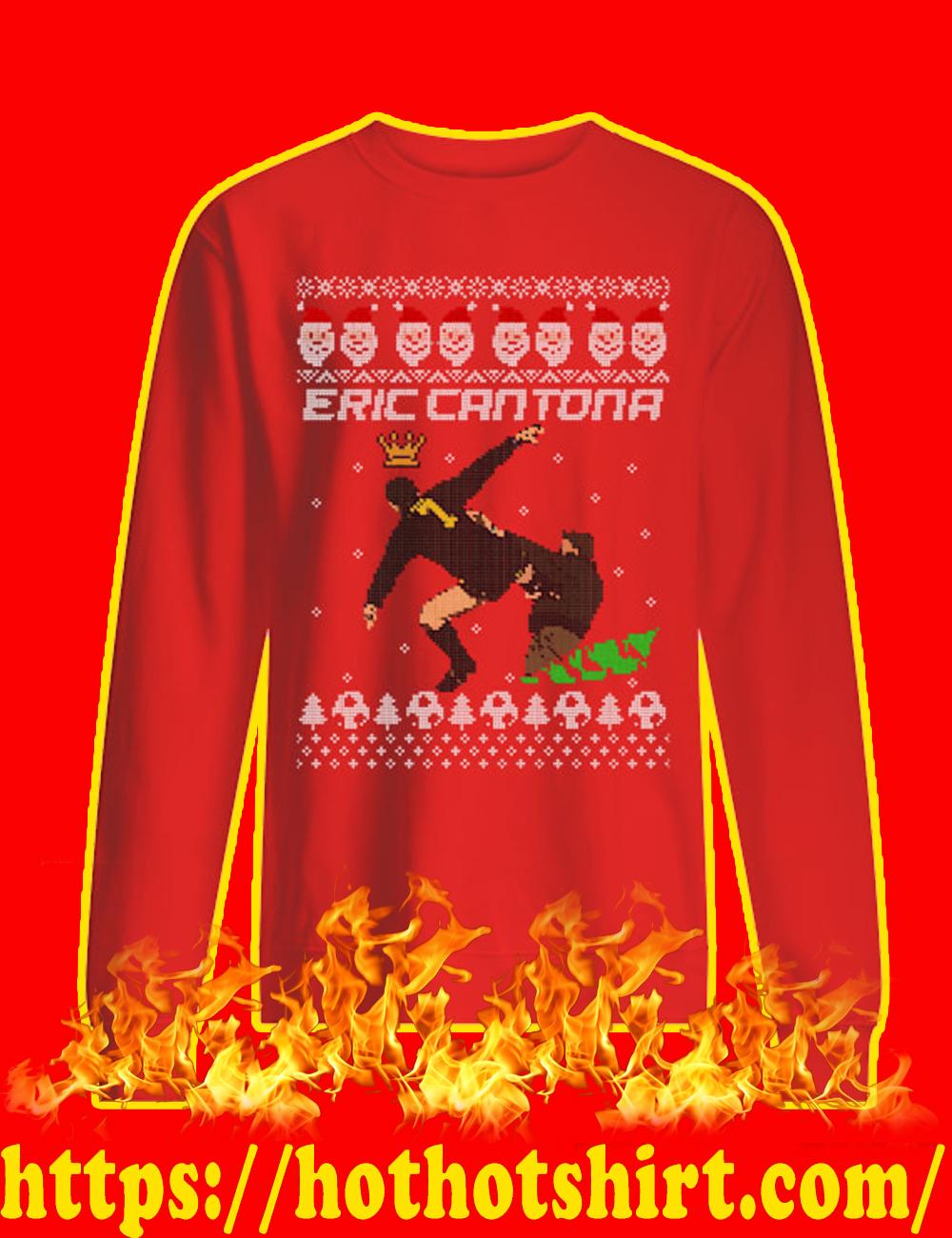 Eric Cantona Kung Fu Kick Sweater-red
