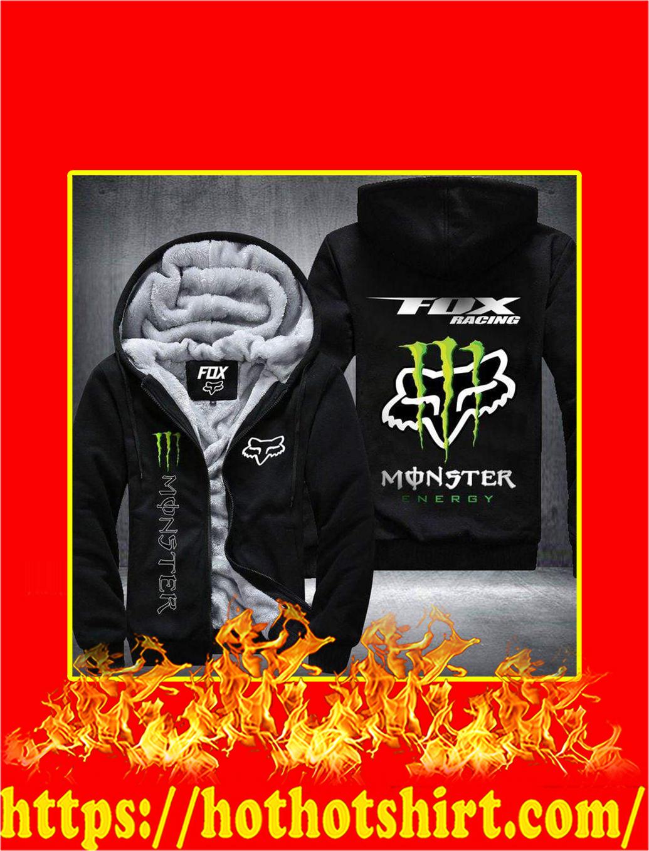 Fox Racing Monster Energy 3D Fleece Hoodie - black