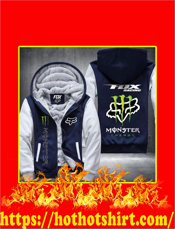 Fox Racing Monster Energy 3D Fleece Hoodie - blue