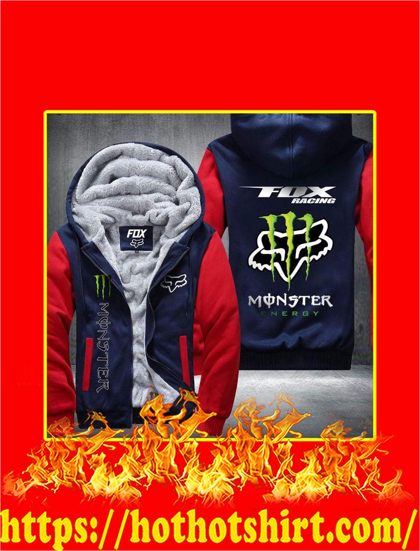 Fox Racing Monster Energy 3D Fleece Hoodie - red