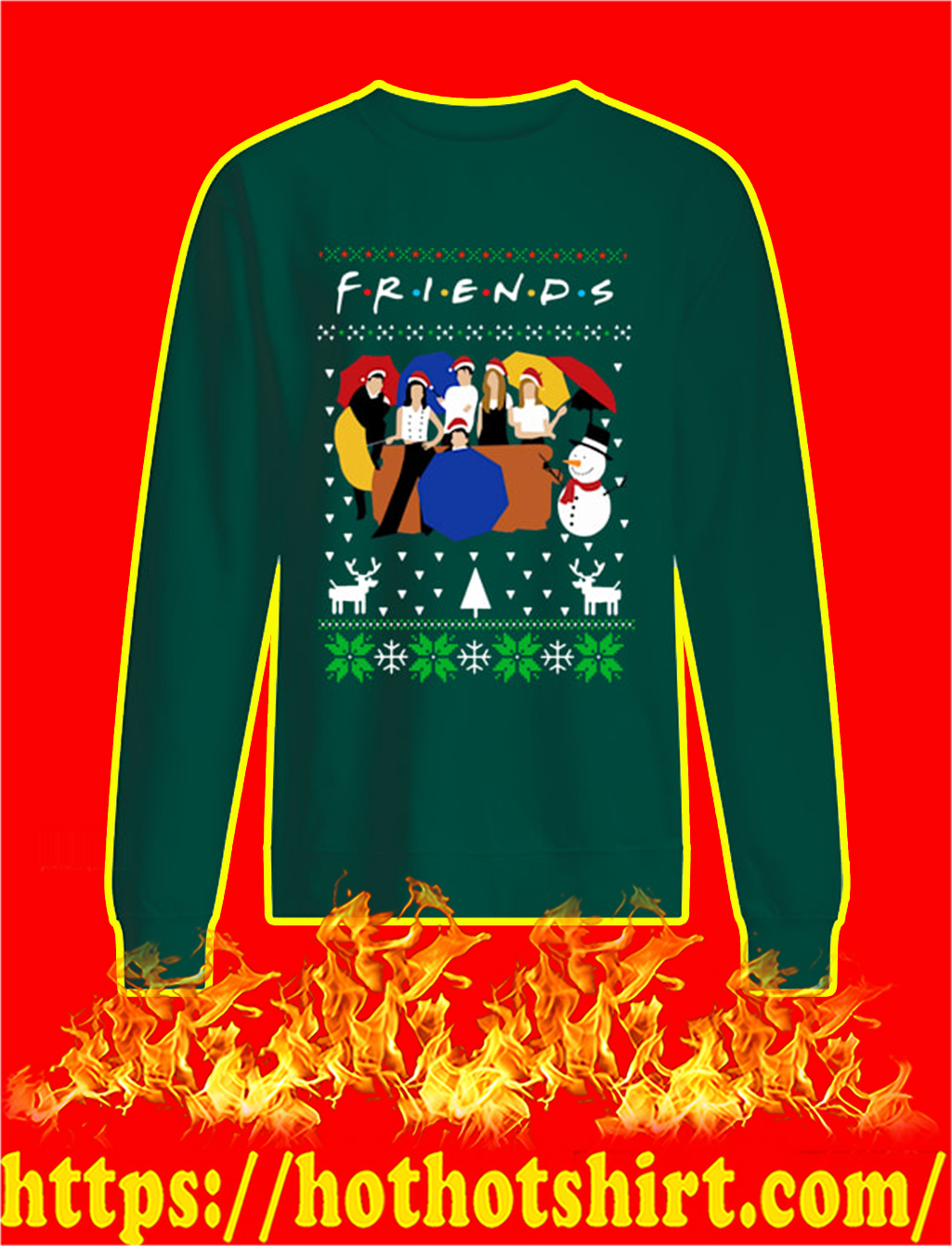 Friends TV Show Ugly Christmas Sweater- green