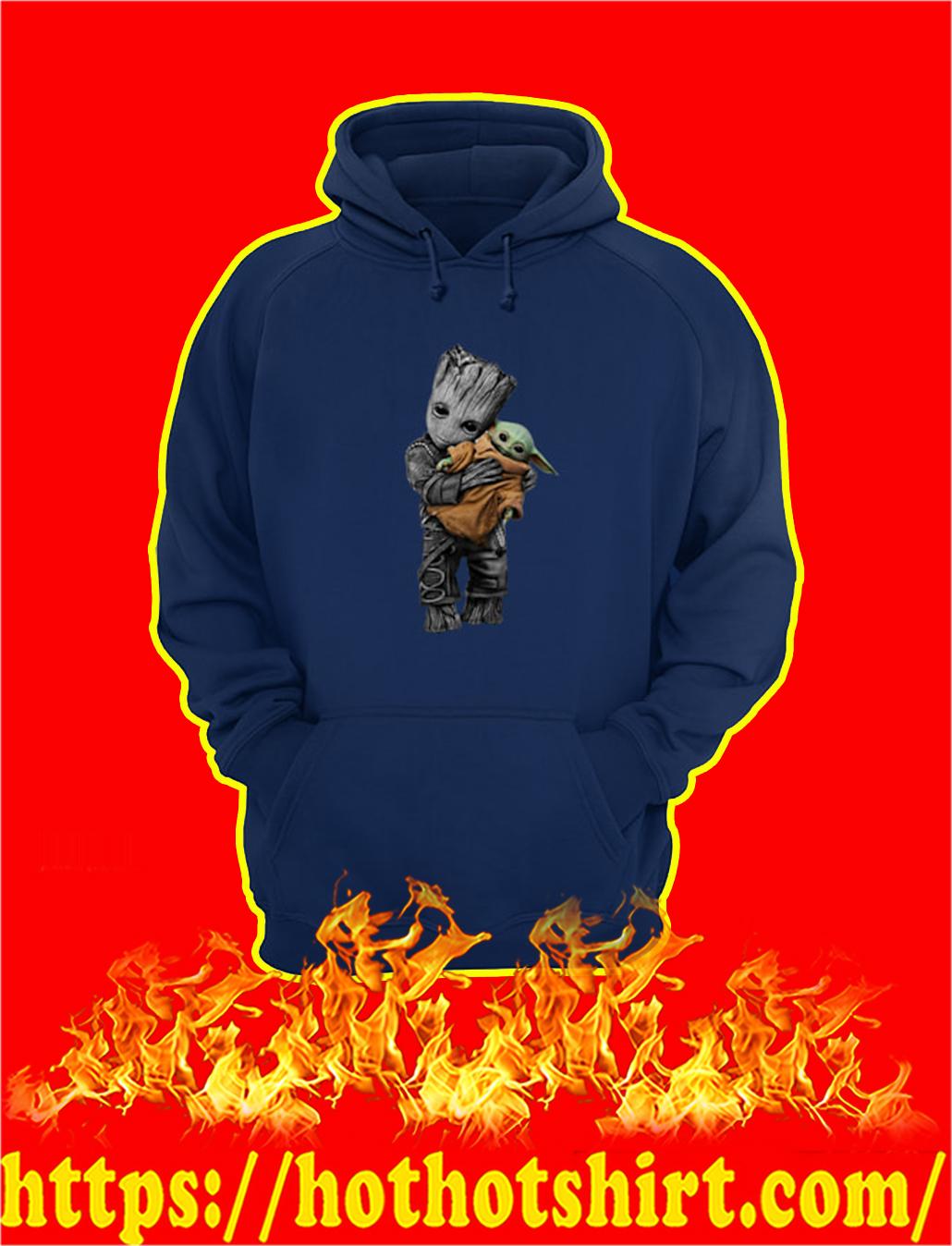 Groot Hug Baby Yoda hoodie