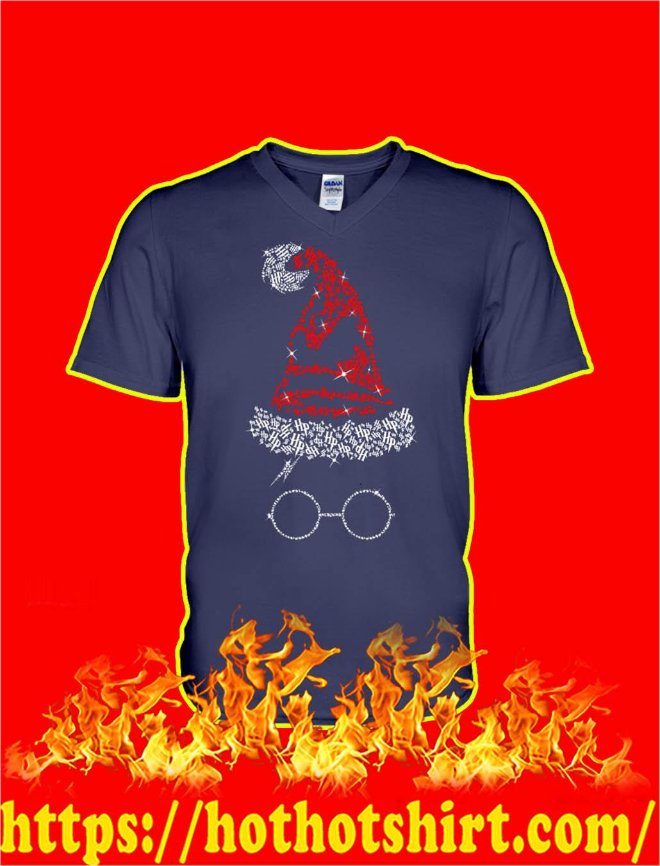 Harry Potter Santa Hat Christmas v-neck