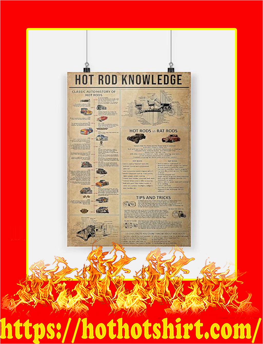 Hot rod knowledge Poster - A2