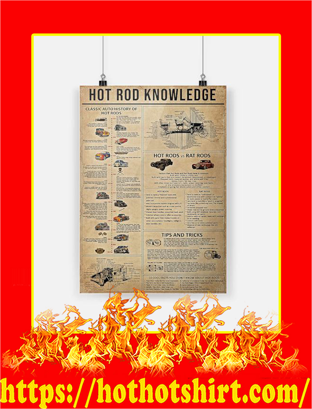 Hot rod knowledge Poster - A4