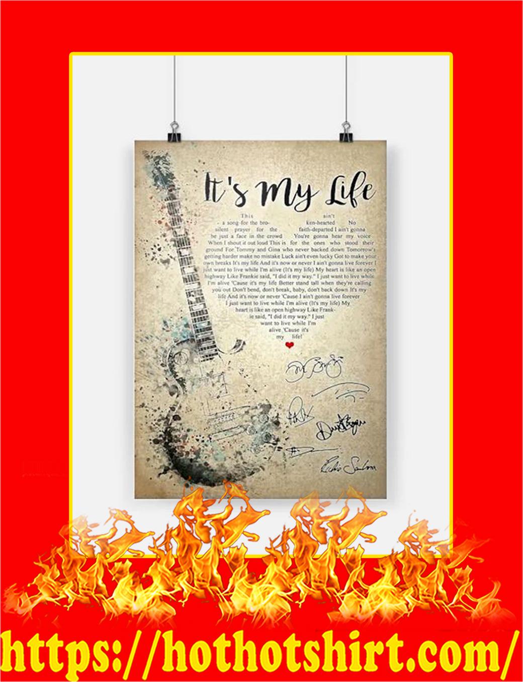 It's My Life Bon Jovi Poster - A2
