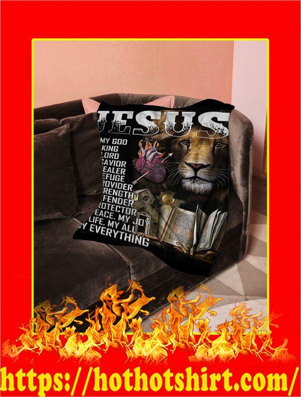 Jesus Is My God Lion Blanket- 50x60