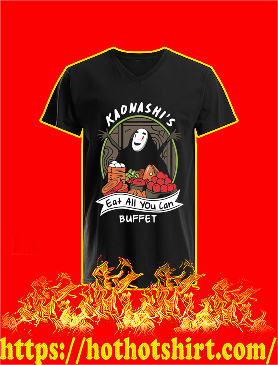 Kaonashi's Eat All You Can Buffet v-neck
