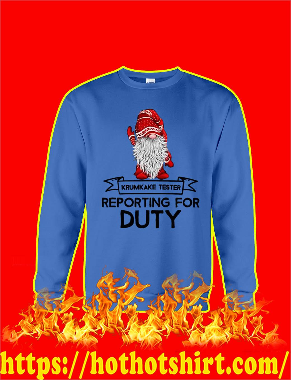 Krumkake Tester Reporting For Duty Christmas Gnome sweatshirt