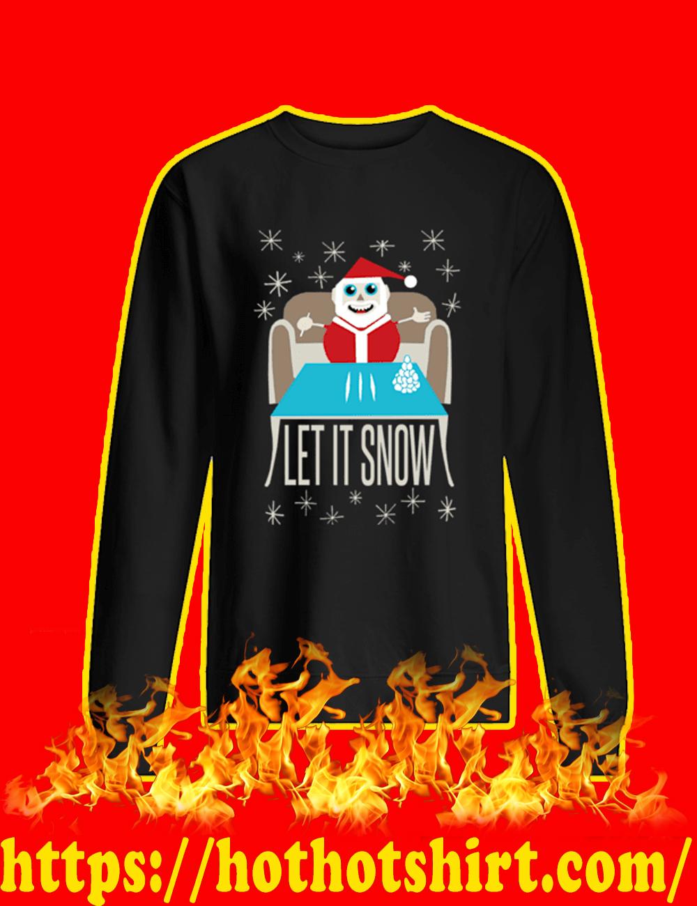 Let It Snow Santa Doing Cocaine Sweater-black