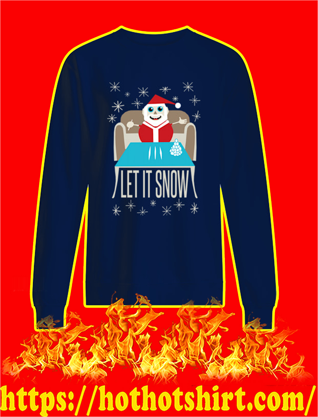 Let It Snow Sweater- navy