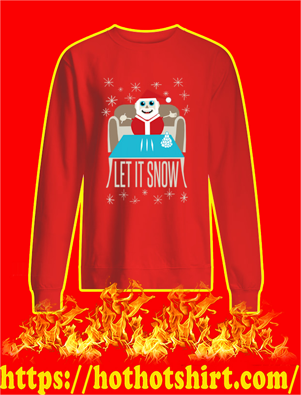 Let It Snow Sweater- red