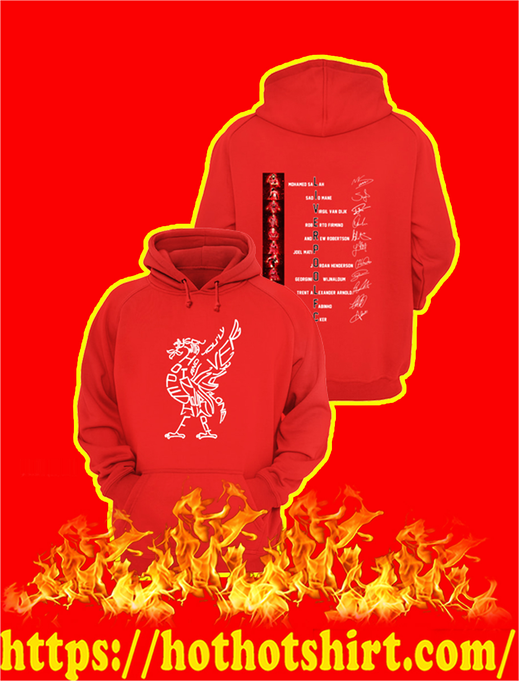 Liverpool FC Players Signature hoodie