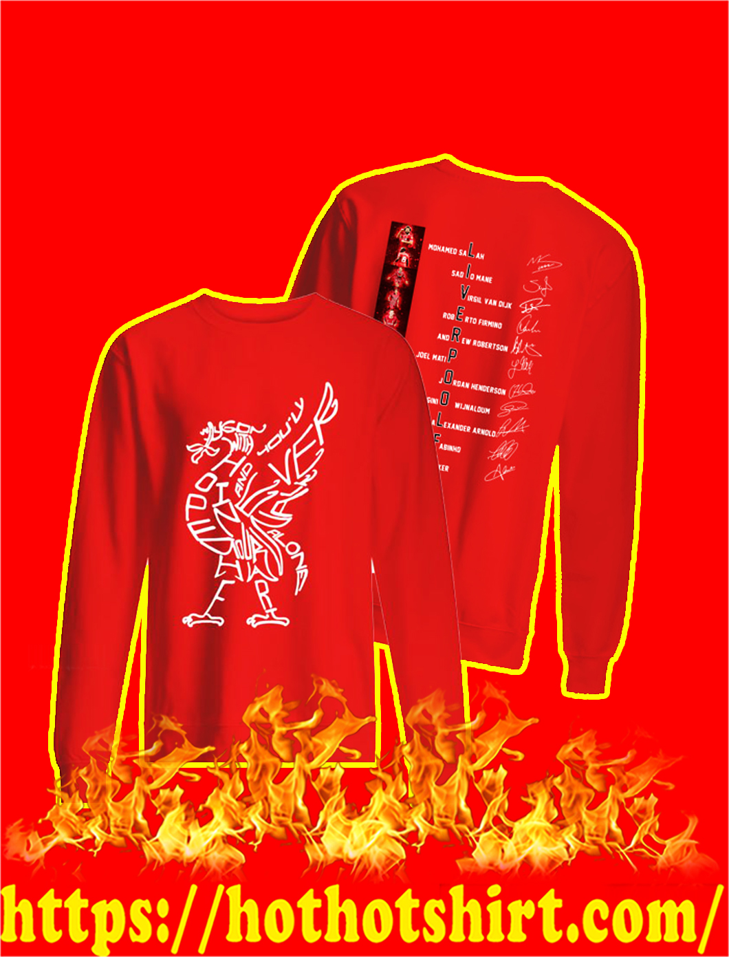 Liverpool FC Players Signature sweatshirt