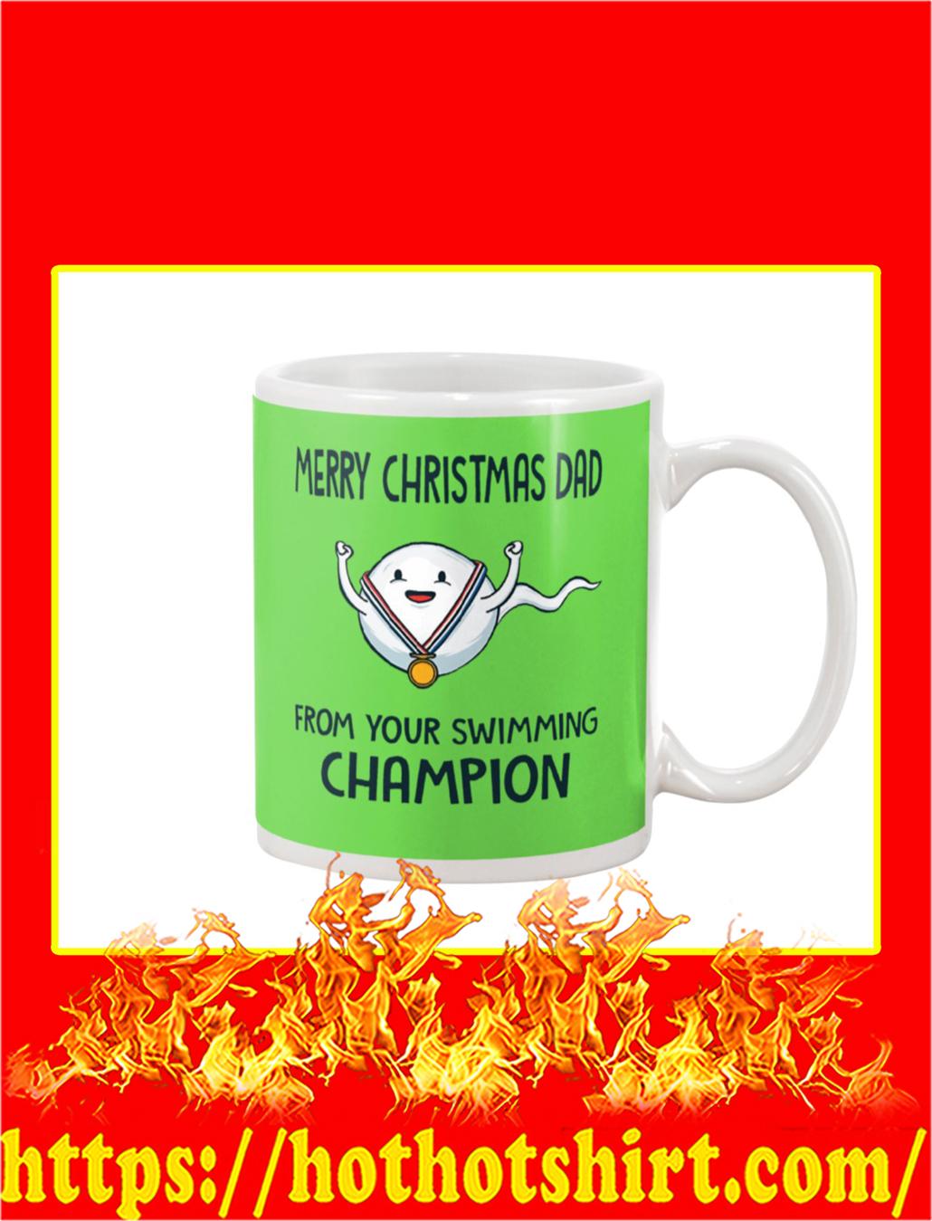 Merry Christmas Dad From Your Swimming Champion Mug- kiwi