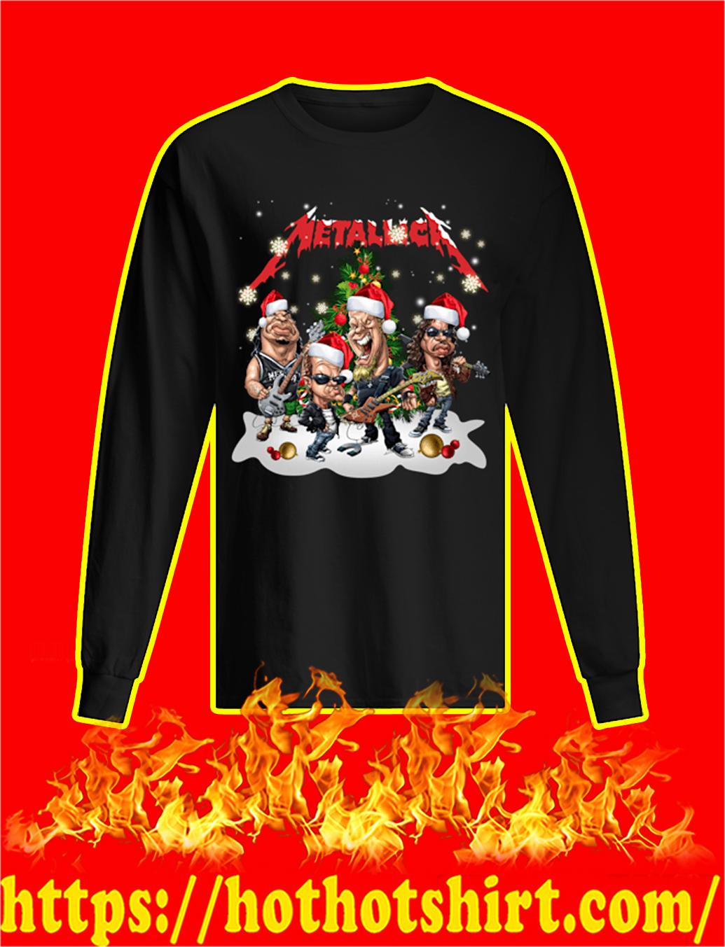 Metallica Santa Hat Christmas longsleeve tee