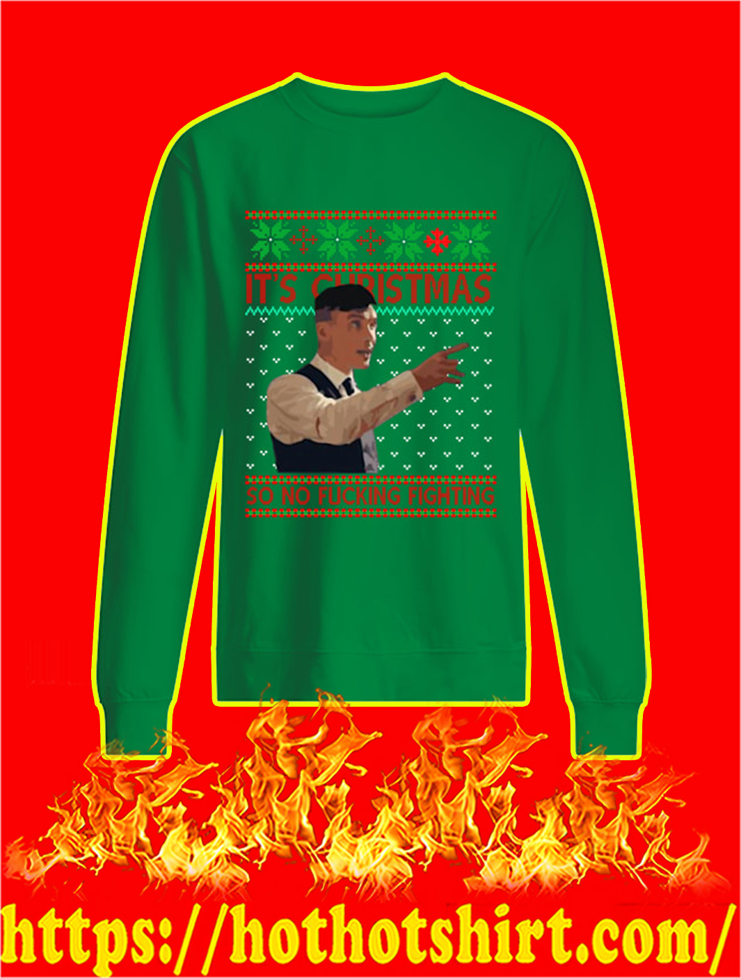 Peaky Blinders It's Christmas So No Fucking Fighting Sweater- kiwi