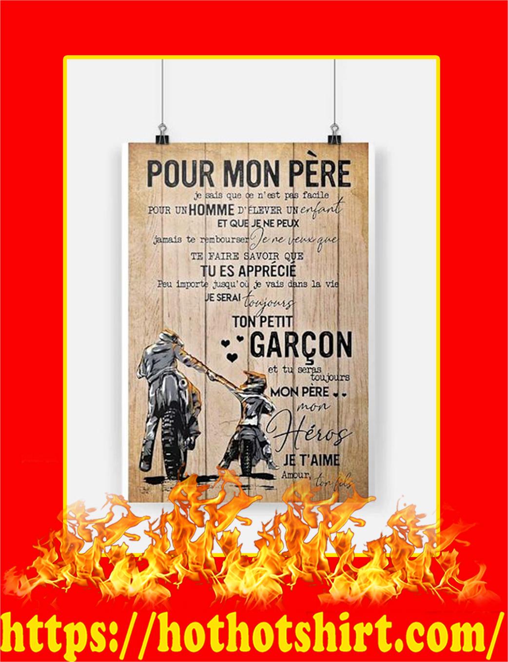 Pour Mon Pere Motarde Affiche Poster - A2