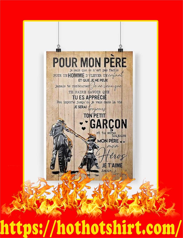 Hot Hot Pour Mon Pere Motarde Affiche Poster
