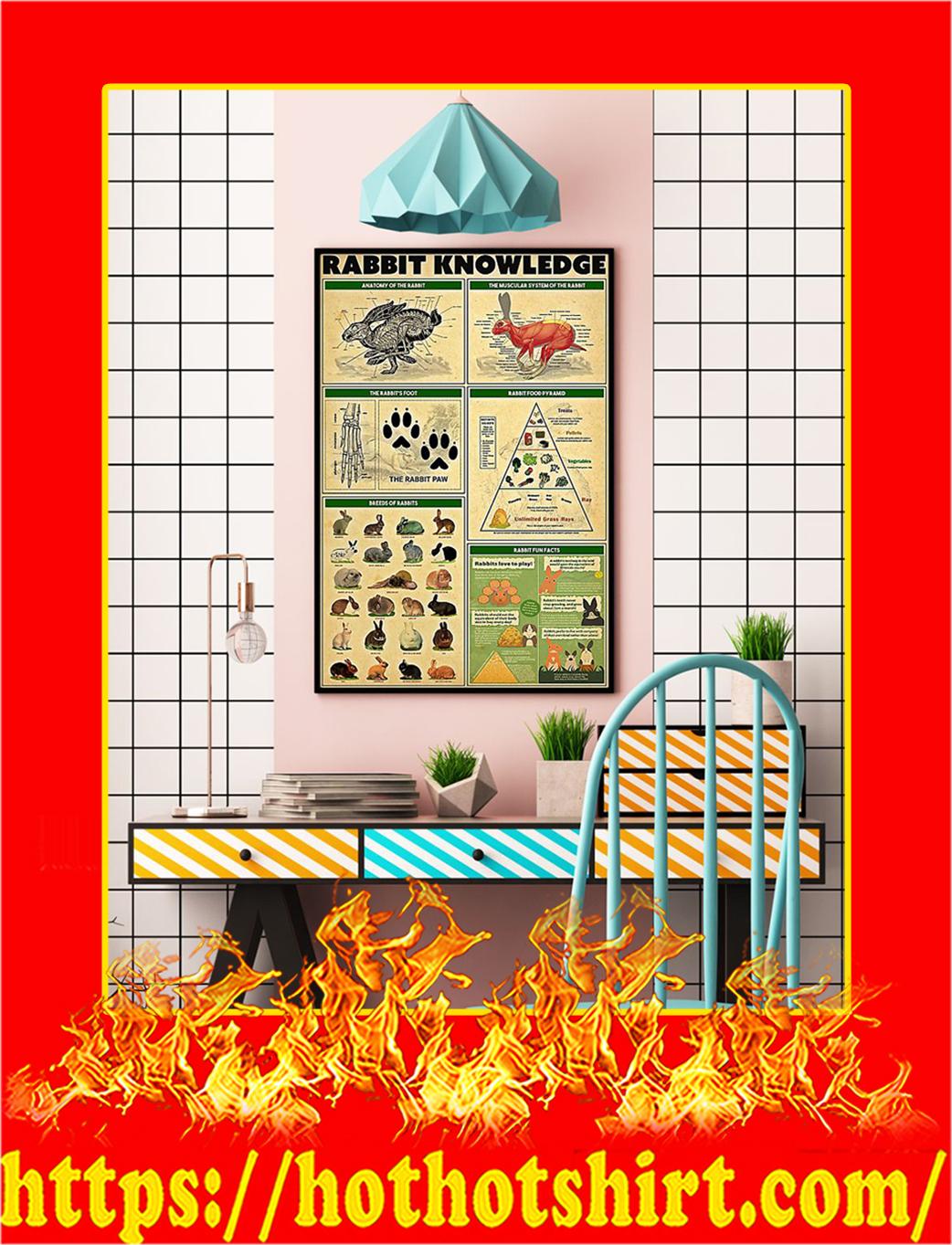 Rabbit Knowledge Poster- 16x24