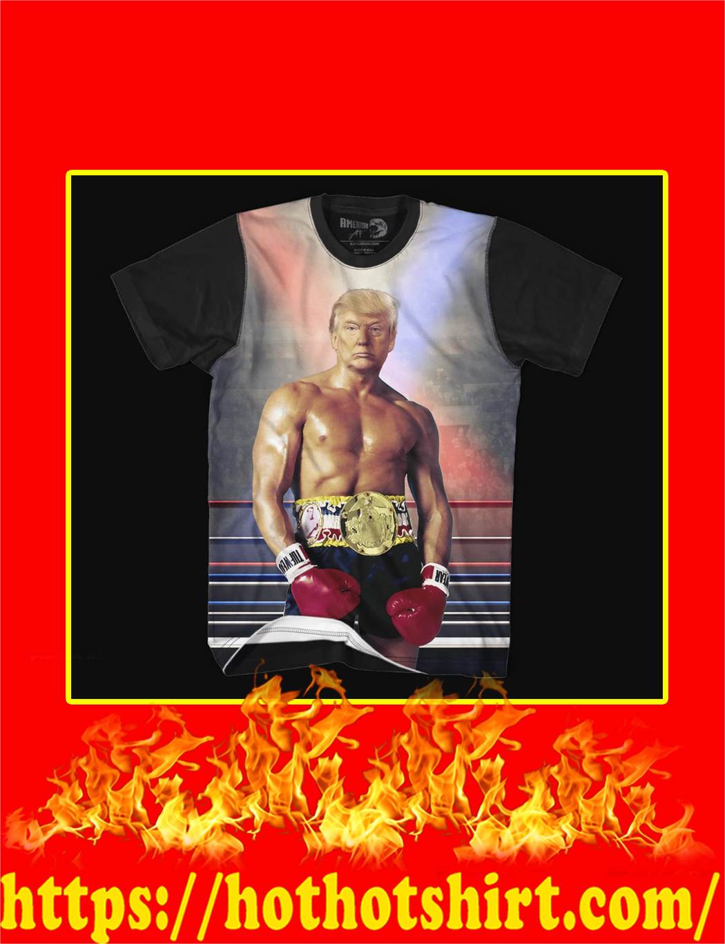 Rocky Trump 3d T-shirt- style 1