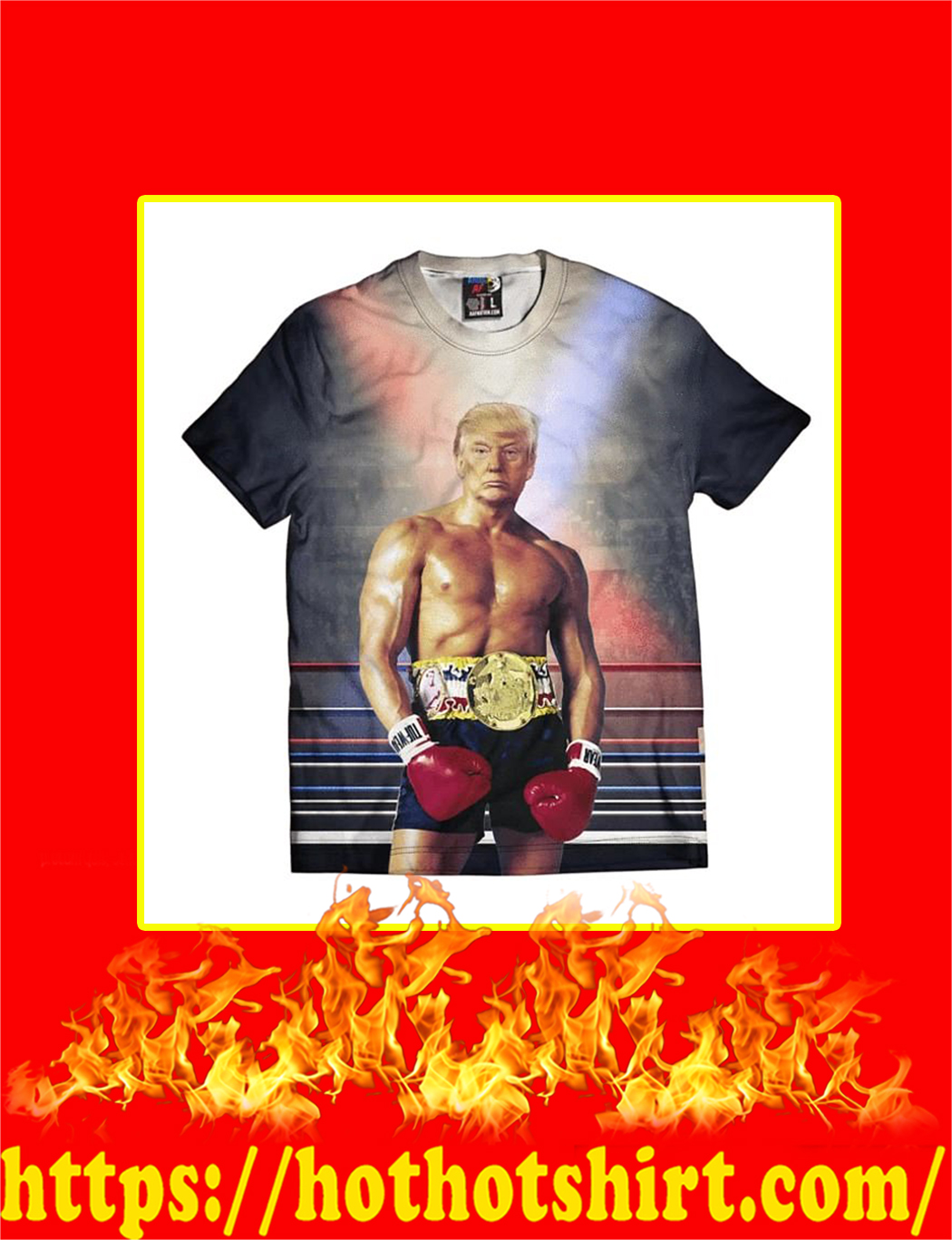 Rocky Trump 3d T-shirt-style 2