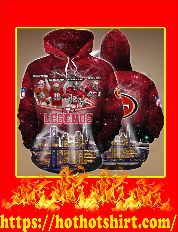 San Francisco 49ers Legends 3D Hoodie