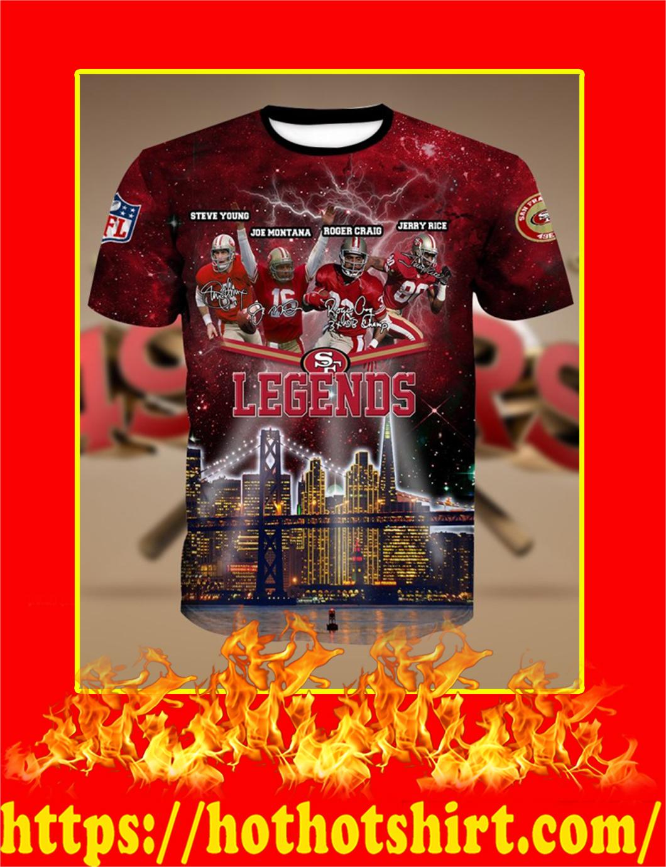 San Francisco 49ers Legends 3D Shirt