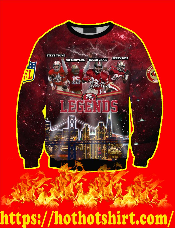 San Francisco 49ers Legends 3D Sweater