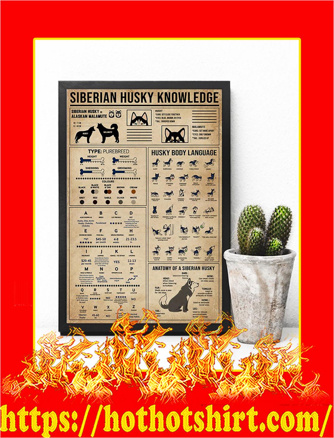 Siberian Husky Knowledge Poster- 16x24