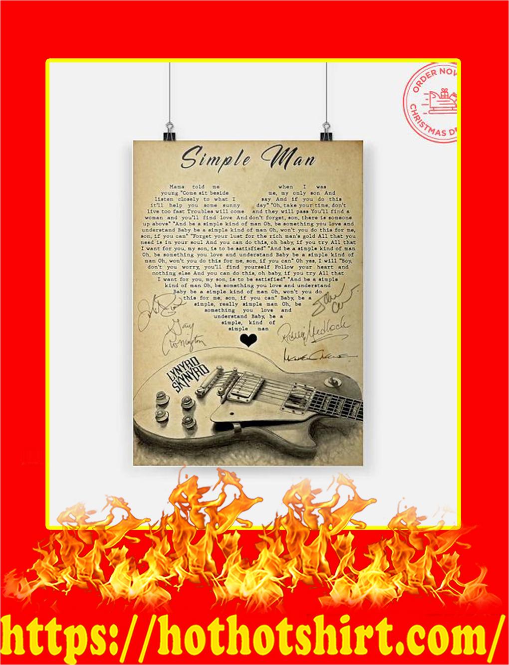 Simple Man Lynyrd Skynyrd Signature Poster - A4