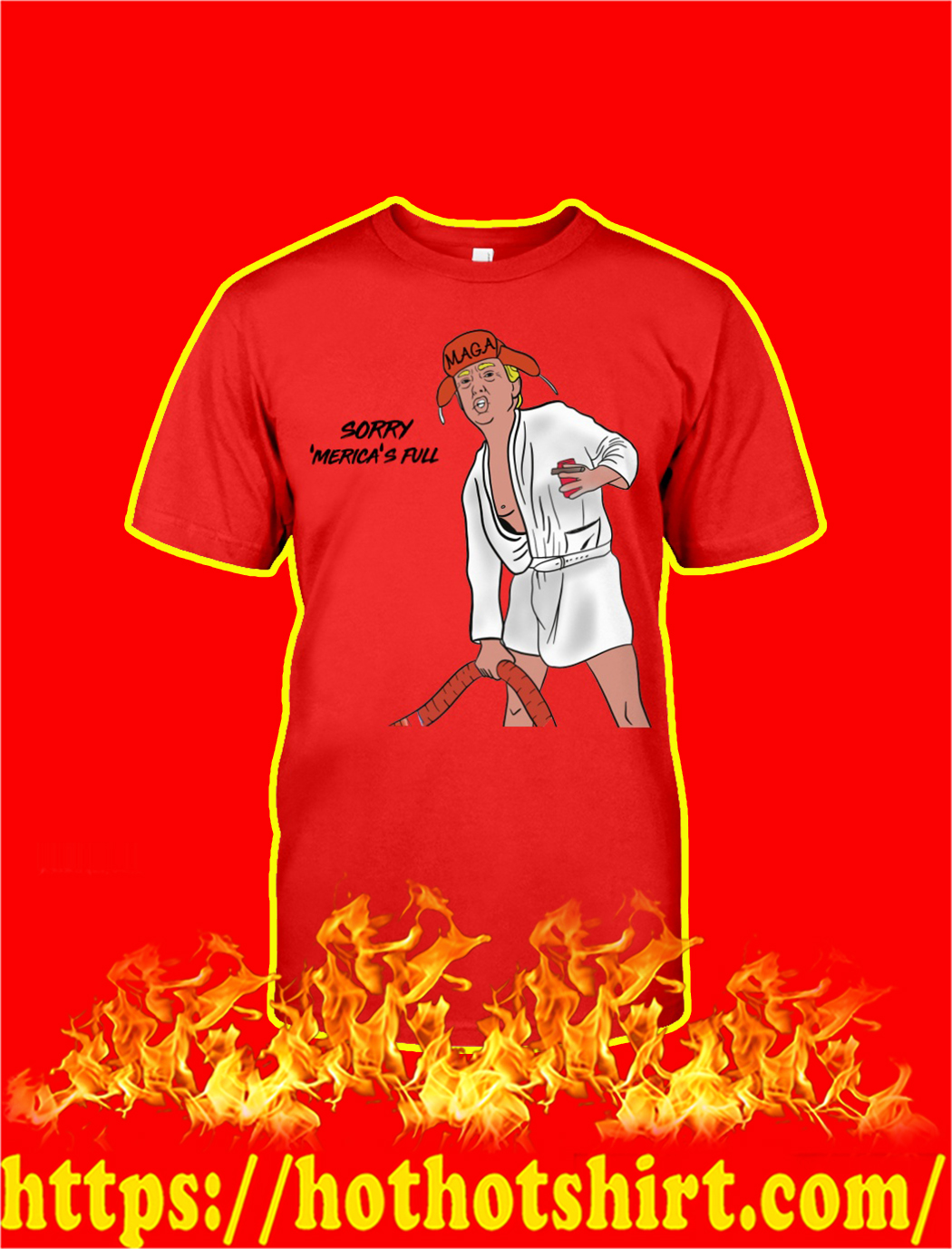 Sorry Merica's Full Christmas T-shirt