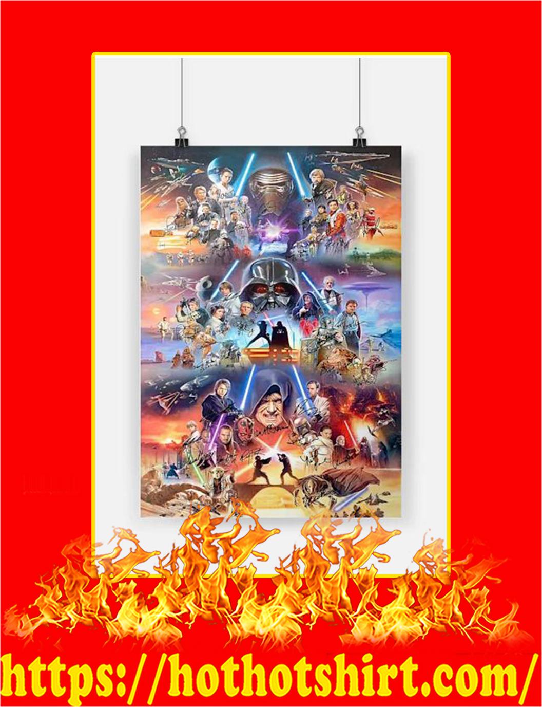 Star War Signature Poster - A3