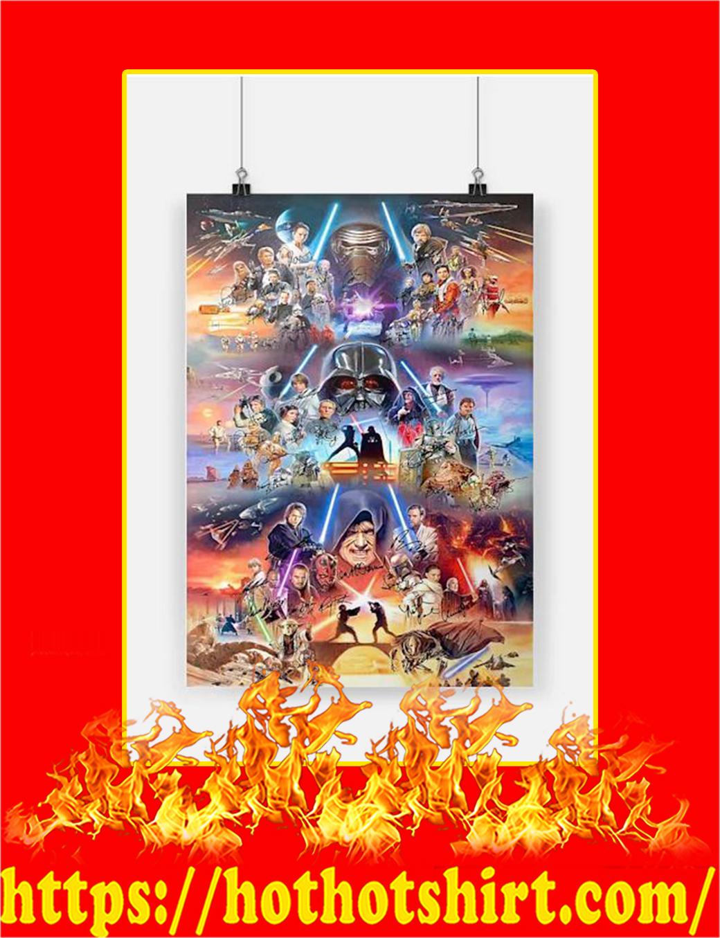 Star War Signature Poster - A4