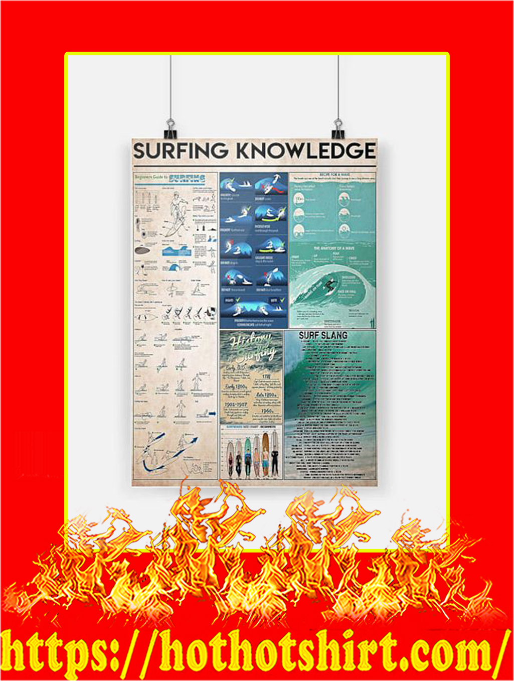 Surfing Knowledge Poster - A4