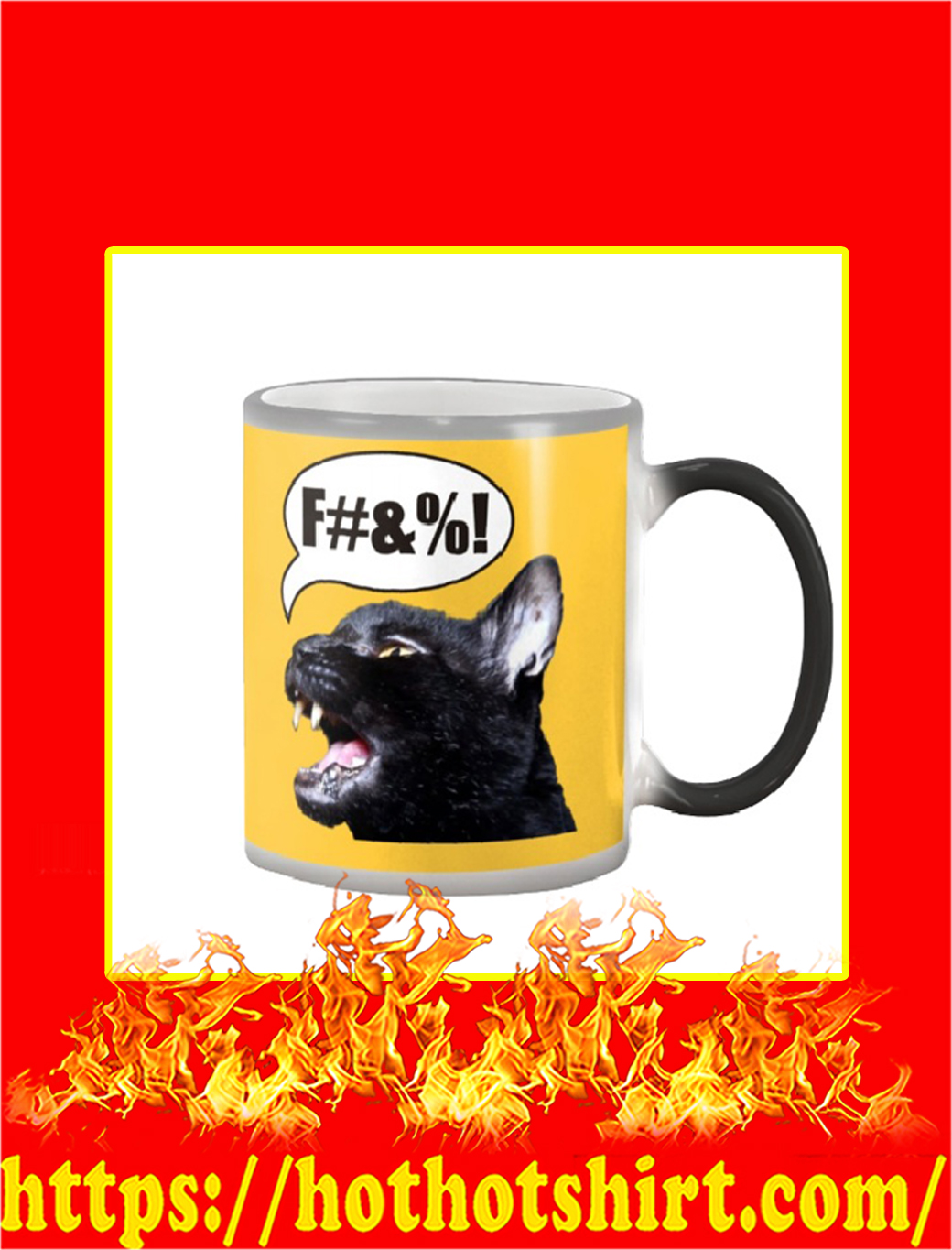 Sylvester The Talking Cat Swearing Color Changing Mug- gold