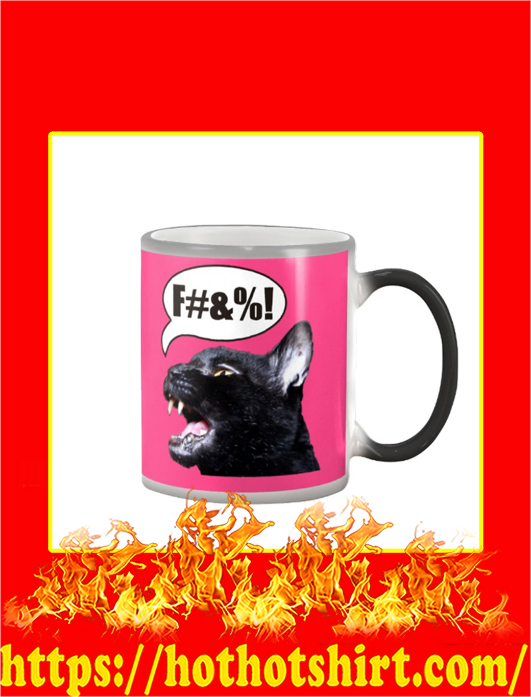 Sylvester The Talking Cat Swearing Color Changing Mug- pink