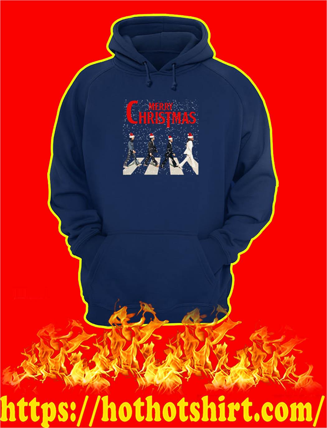 The Beatles Abbey Road Merry Chrismtas hoodie