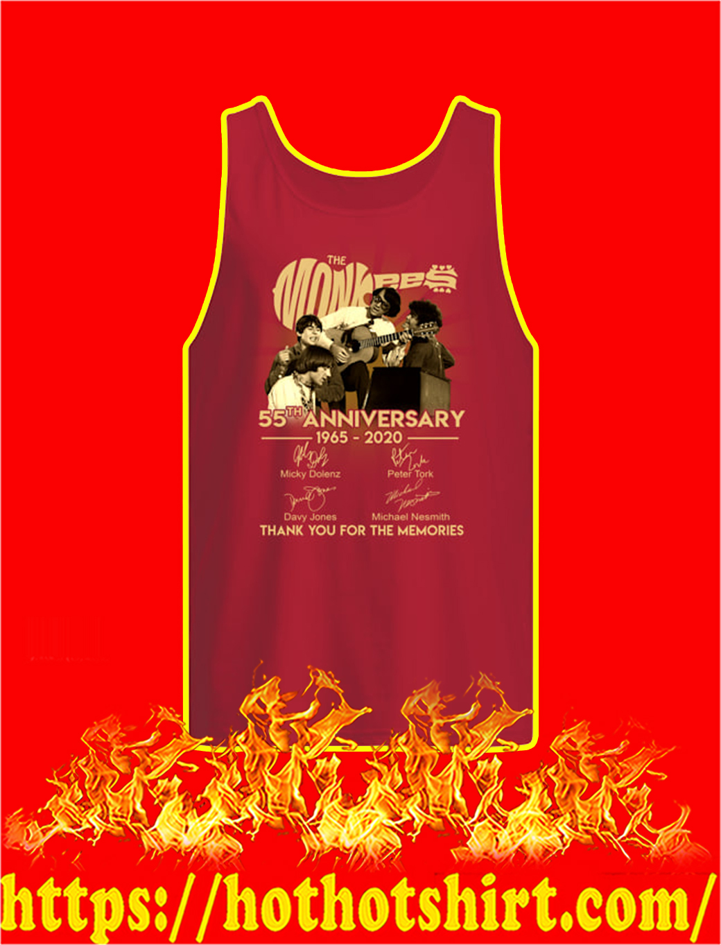 The Monkees 55th Anniversary 1965 2020 tank top