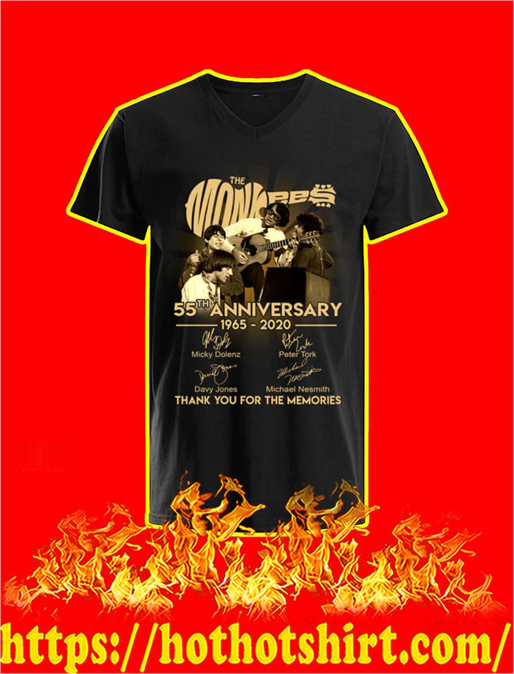 The Monkees 55th Anniversary 1965 2020 v-neck
