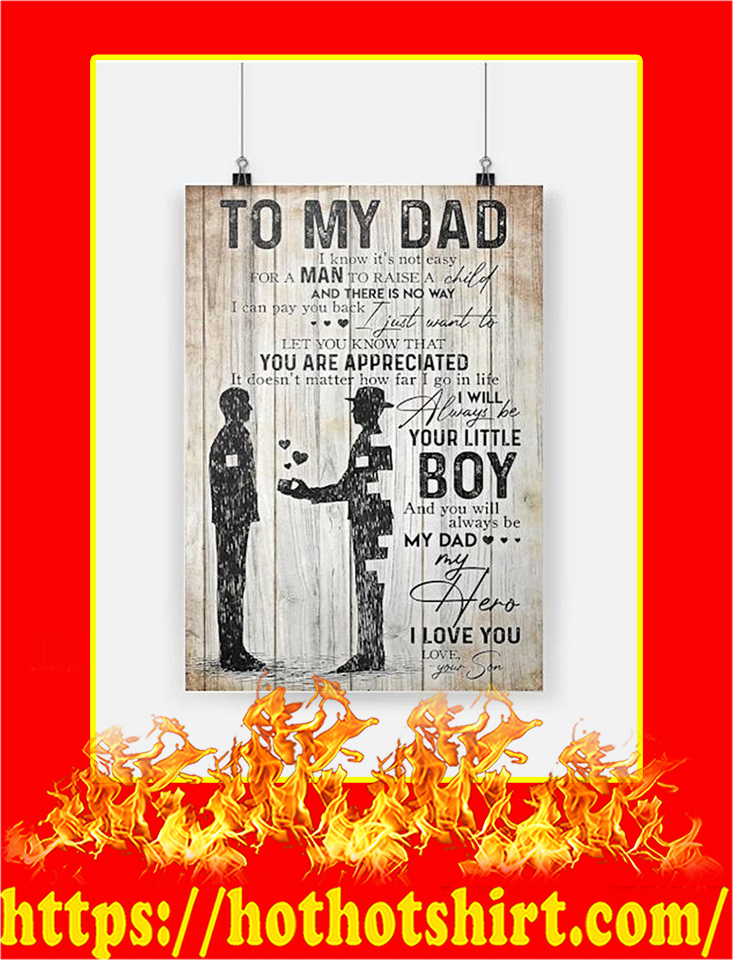 To My Dad Your Son Poster - A2