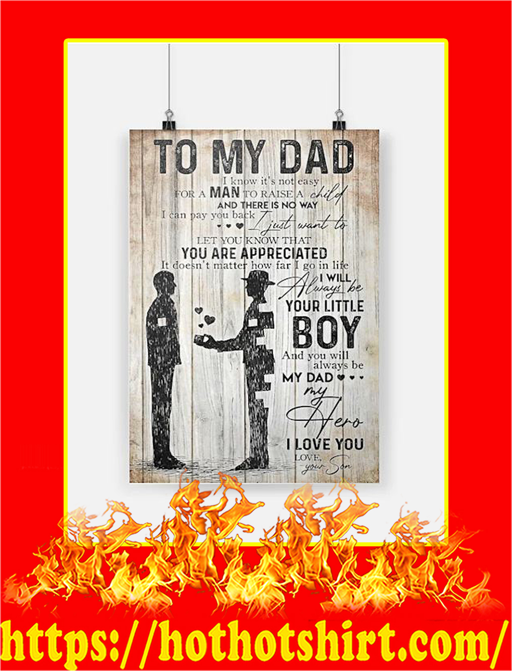 To My Dad Your Son Poster - A4