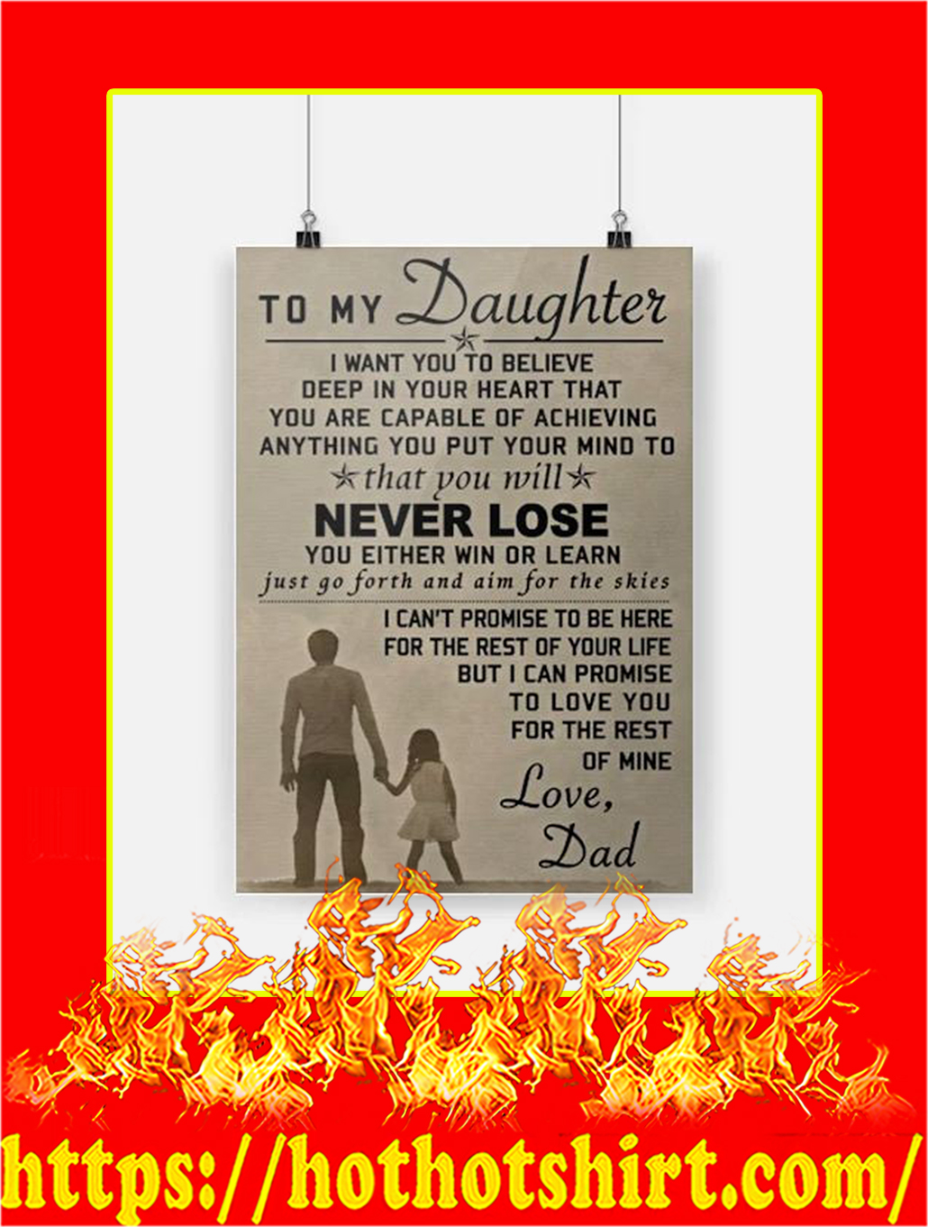 To My Daughter Dad Poster - A4