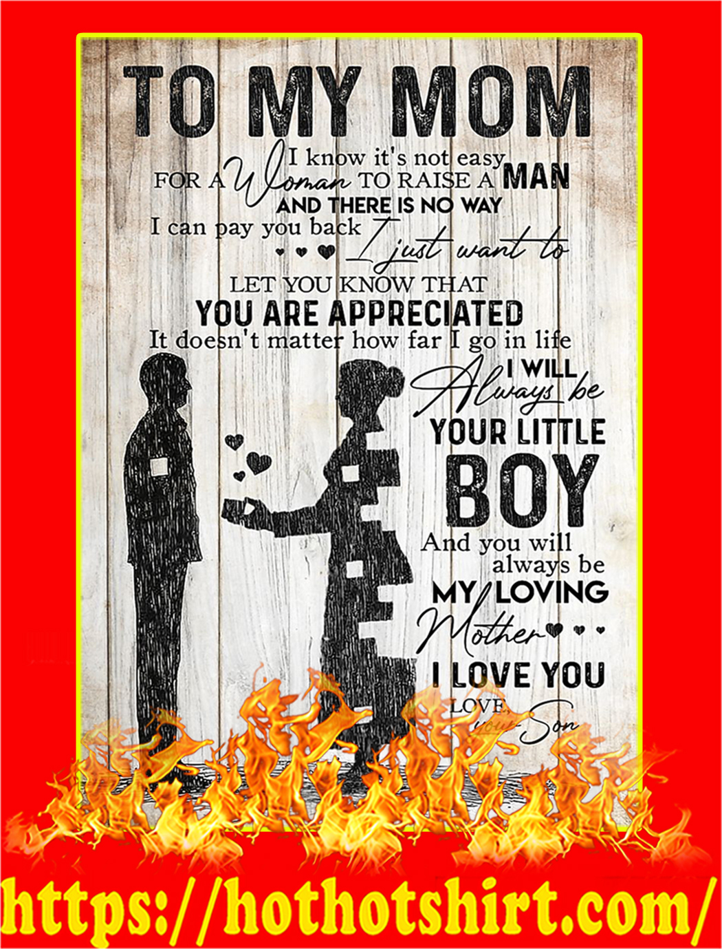 To My Mom Your Son Poster - A2