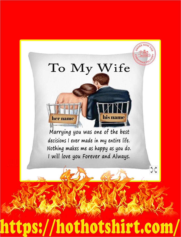 To My Wife Custom Personalized Name Pillowcase and Mug
