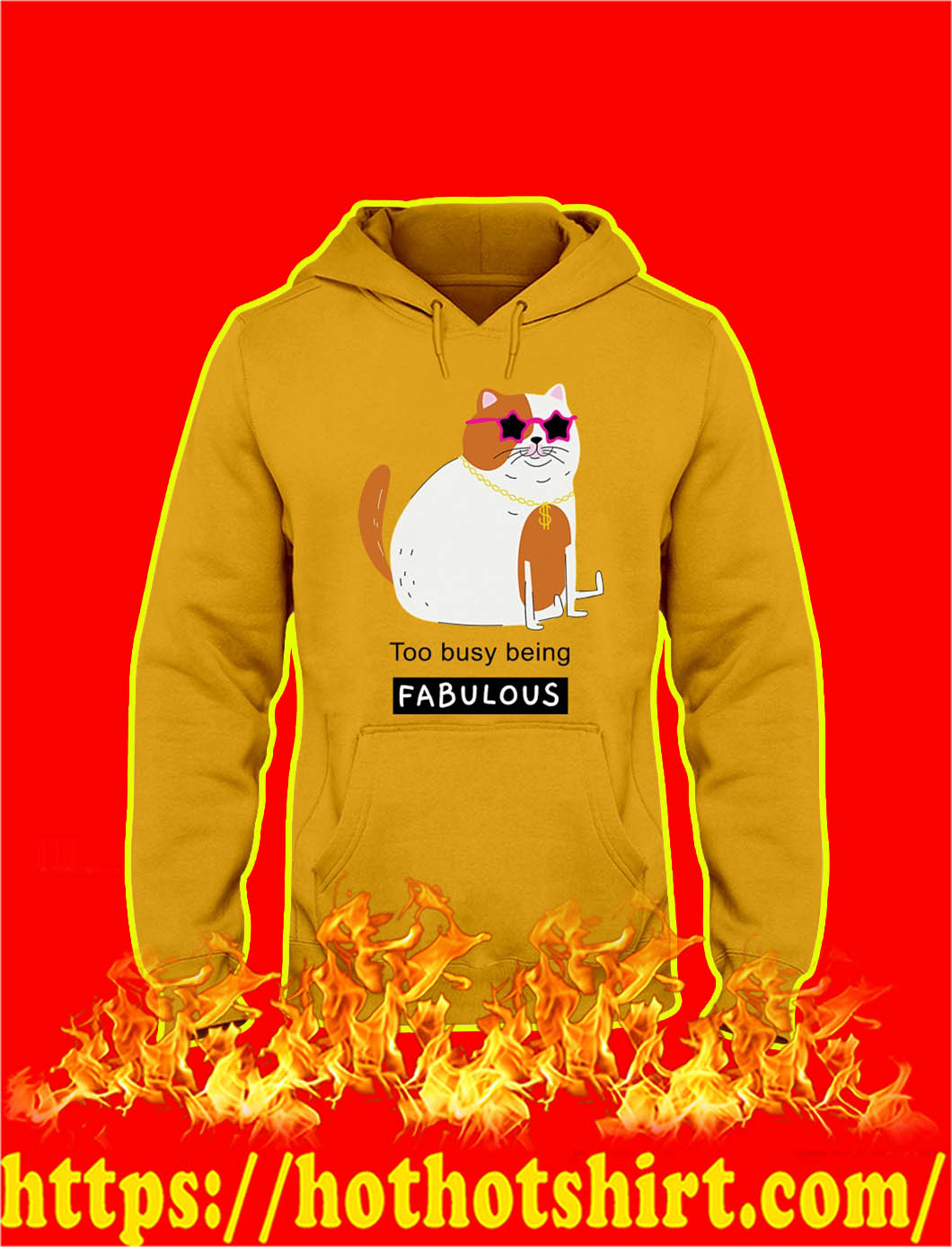 Too Busy Being Fabulous Down Syndrome hoodie