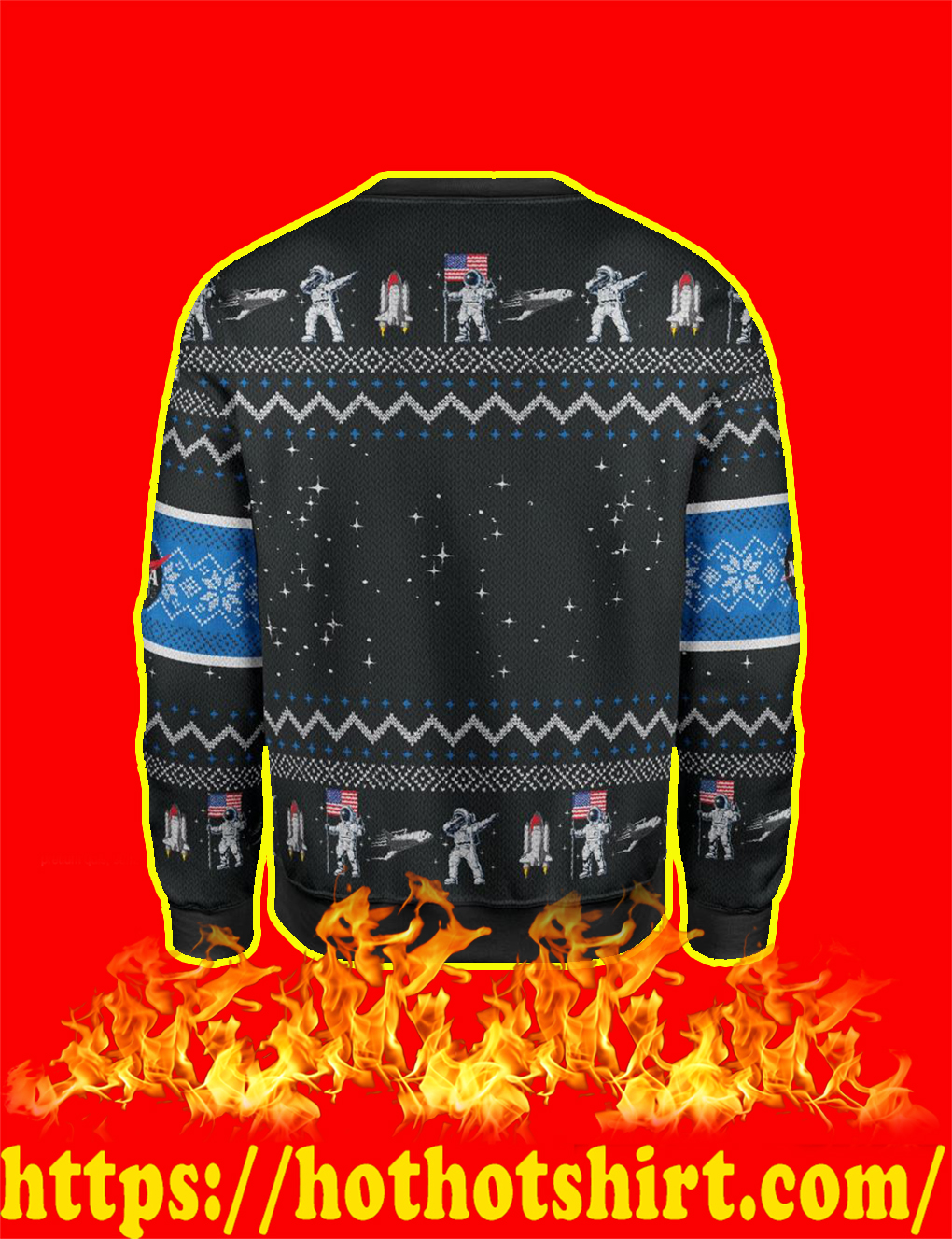 Trump Maga Space Force Christmas Sweater- back
